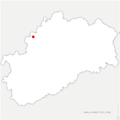 carte de localisation de Vernois-sur-Mance