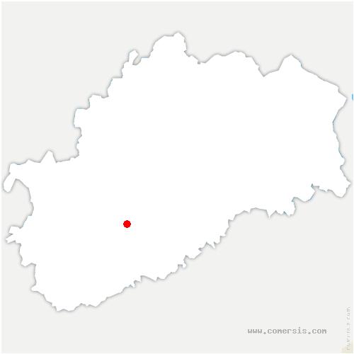carte de localisation de Vernotte