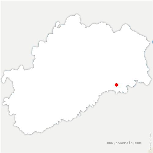 carte de localisation de Villargent