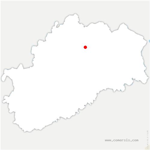 carte de localisation de Villedieu-en-Fontenette