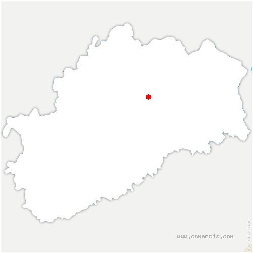 carte de localisation de Villeneuve-Bellenoye-et-la-Maize
