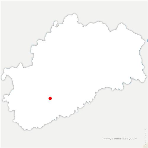 carte de localisation de Villers-Chemin-et-Mont-lès-Étrelles