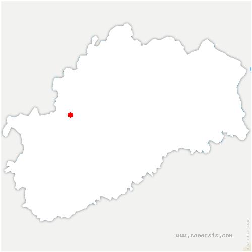 carte de localisation de Villers-Vaudey