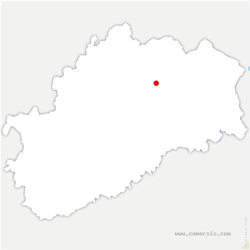 carte de localisation de Villers-lès-Luxeuil
