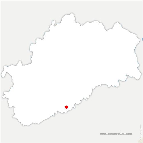 carte de localisation de Voray-sur-l'Ognon