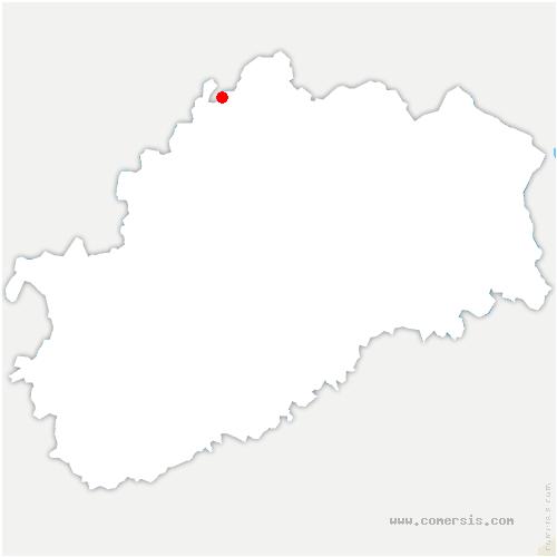 carte de localisation de Vougécourt