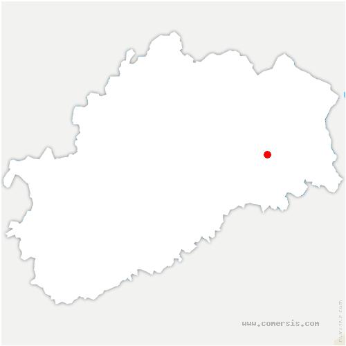 carte de localisation de Vouhenans
