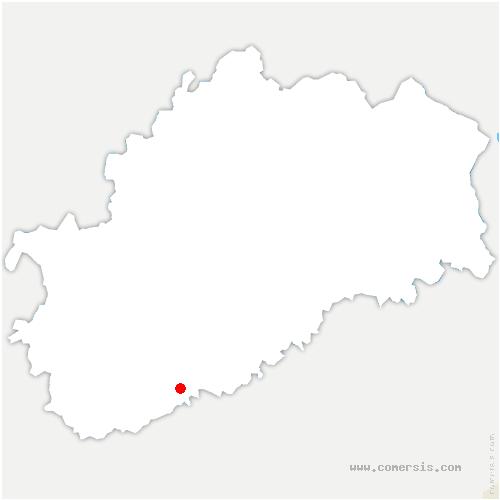 carte de localisation de Vregille