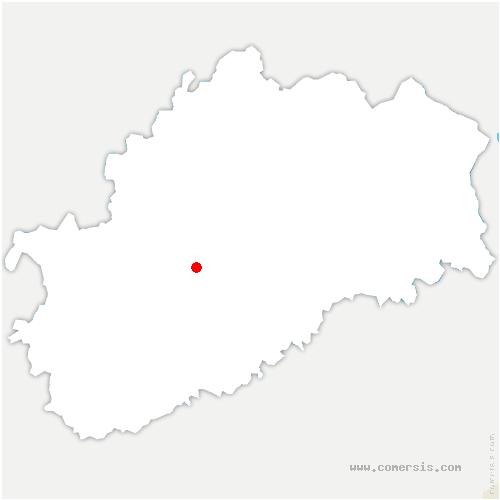 carte de localisation de Vy-le-Ferroux