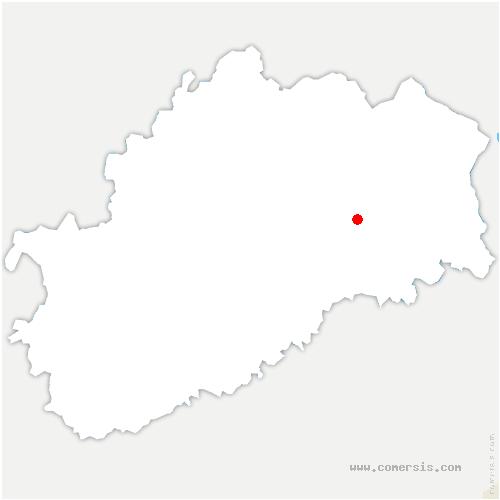 carte de localisation de Vy-lès-Lure