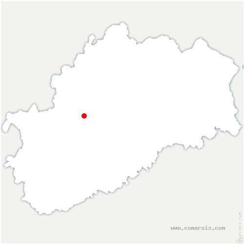 carte de localisation de Vy-lès-Rupt