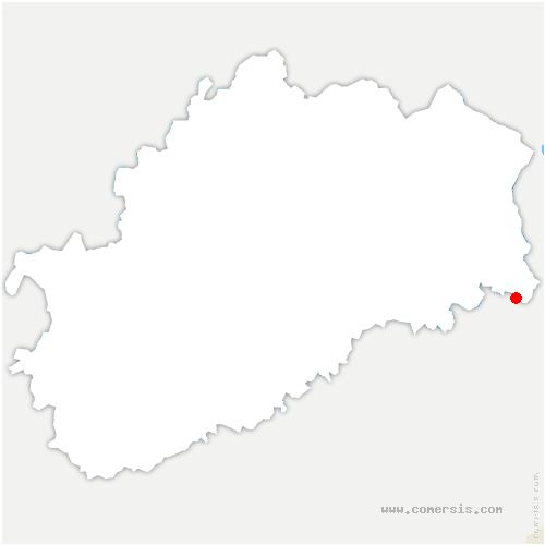carte de localisation de Vyans-le-Val