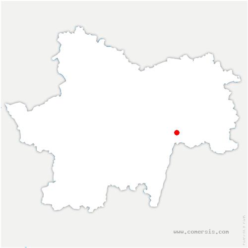 carte de localisation de Abergement-de-Cuisery