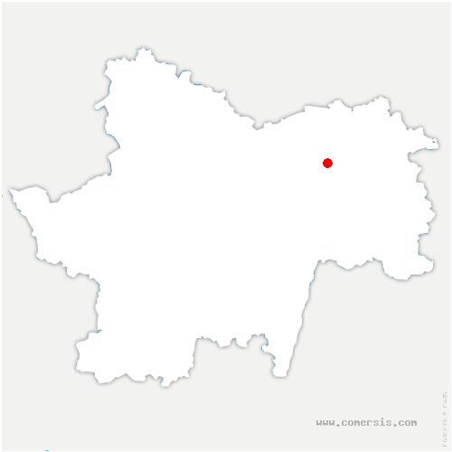 carte de localisation de Allériot