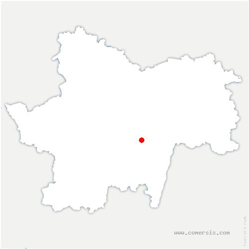 carte de localisation de Ameugny