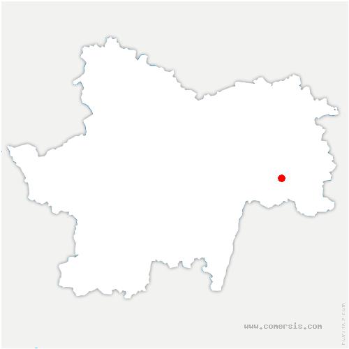 carte de localisation de Bantanges