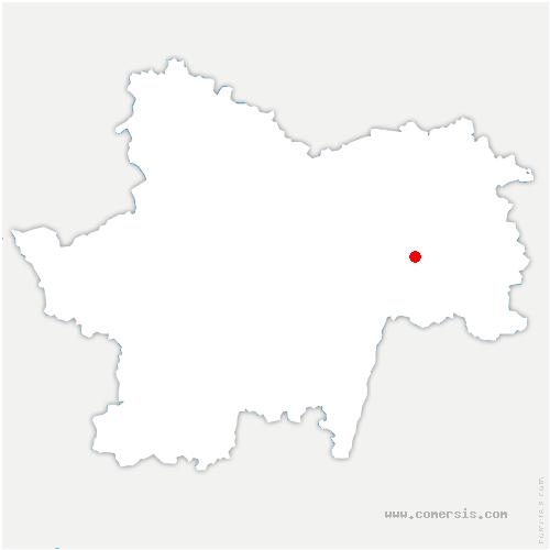 carte de localisation de Baudrières