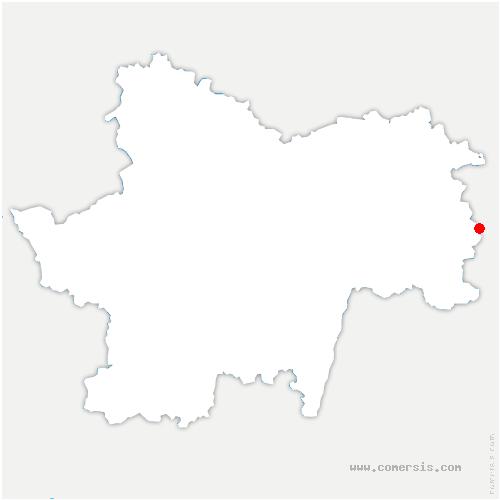 carte de localisation de Beaurepaire-en-Bresse