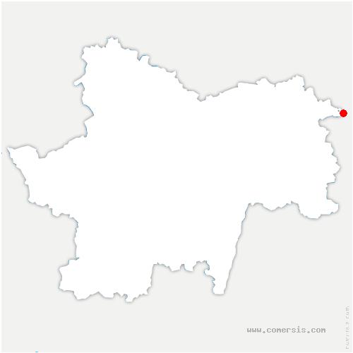 carte de localisation de Beauvernois