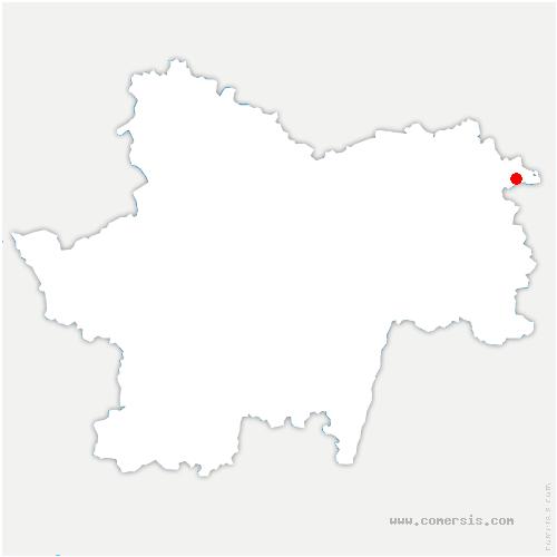 carte de localisation de Bellevesvre