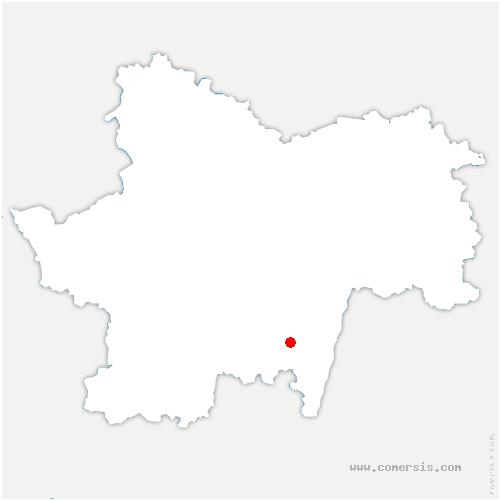 carte de localisation de Berzé-la-Ville