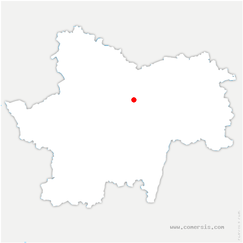 carte de localisation de Bissey-sous-Cruchaud