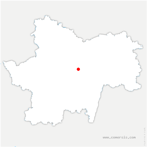 carte de localisation de Bissy-sur-Fley