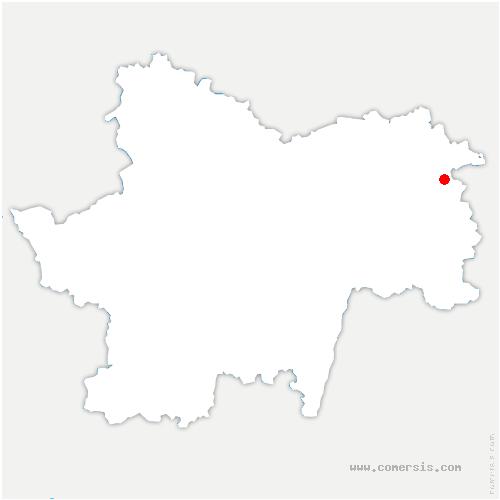 carte de localisation de Bouhans