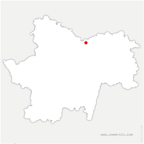 carte de localisation de Bouzeron