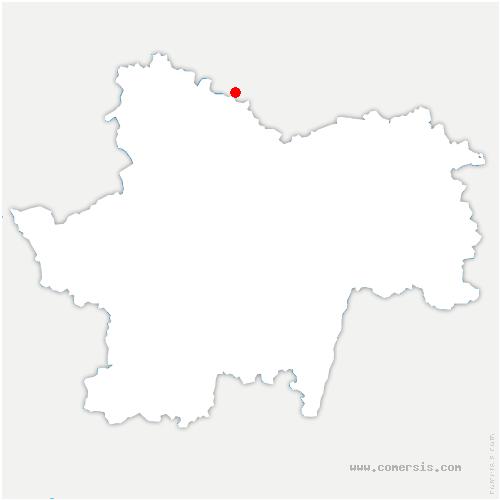 carte de localisation de Boyer