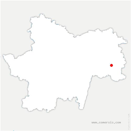 carte de localisation de Bruailles