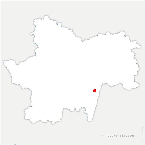 carte de localisation de Burgy