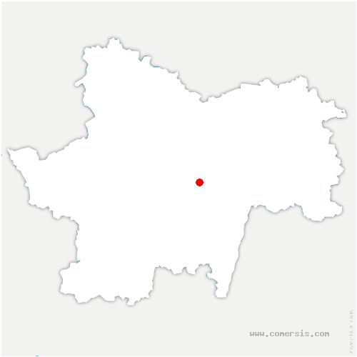 carte de localisation de Burnand