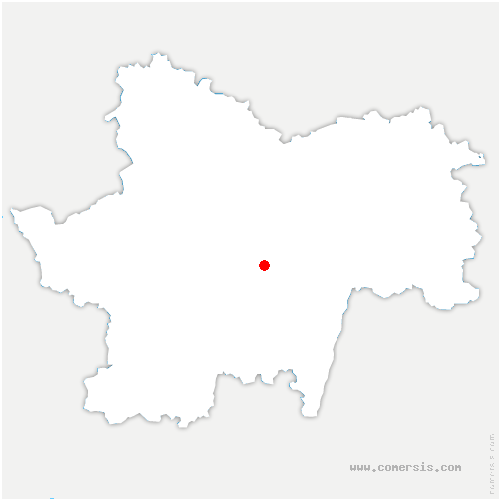 carte de localisation de Burzy