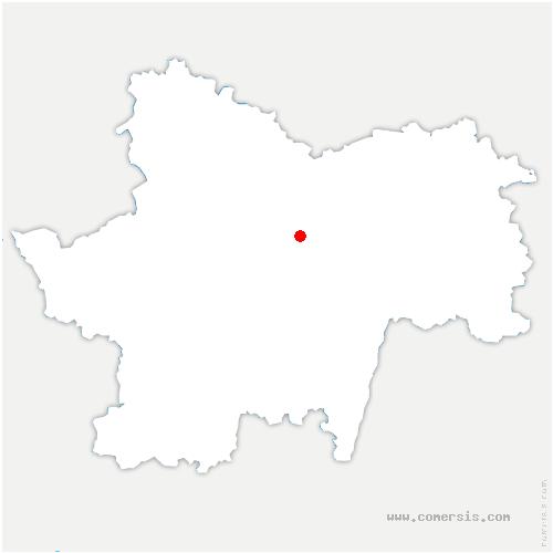 carte de localisation de Cersot