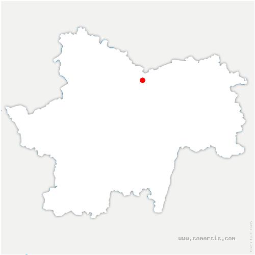 carte de localisation de Chamilly