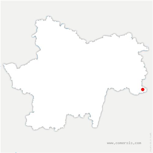 carte de localisation de Champagnat