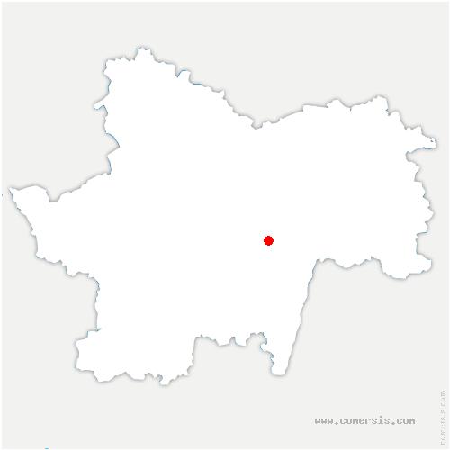 carte de localisation de Champagny-sous-Uxelles