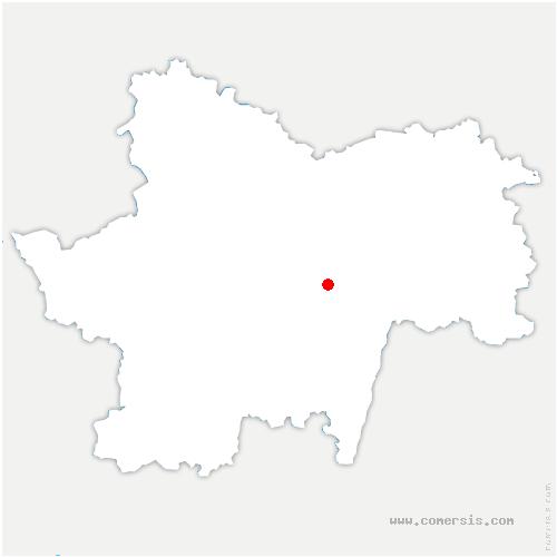 carte de localisation de Chapelle-de-Bragny