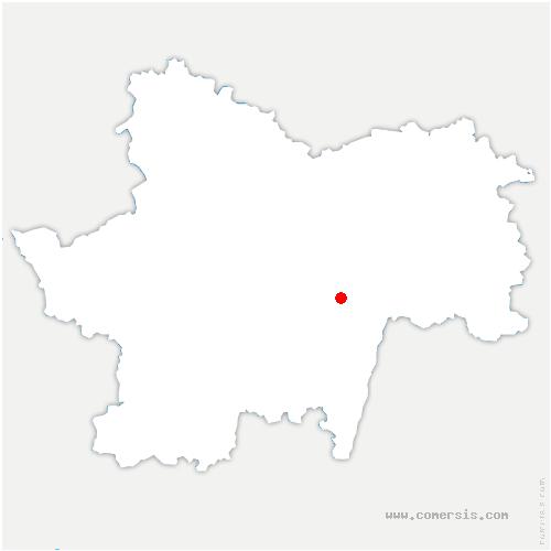 carte de localisation de Chapelle-sous-Brancion