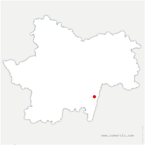 carte de localisation de Charbonnières