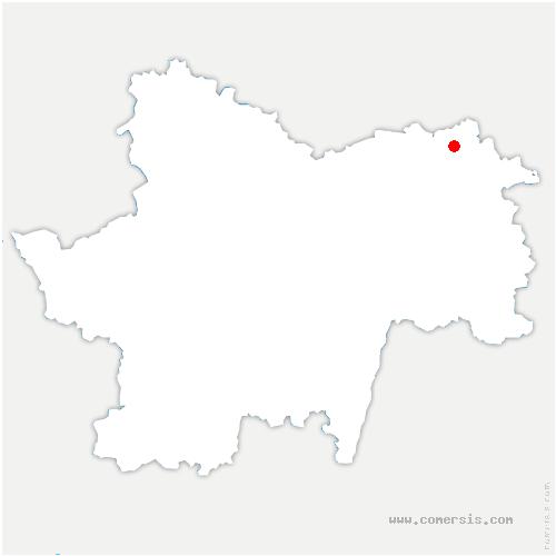 carte de localisation de Charette-Varennes