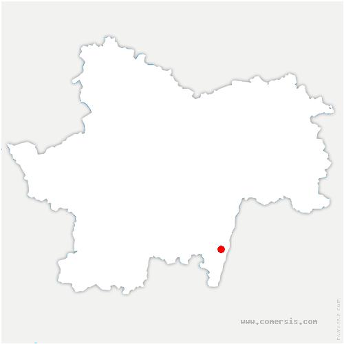 carte de localisation de Charnay-lès-Mâcon