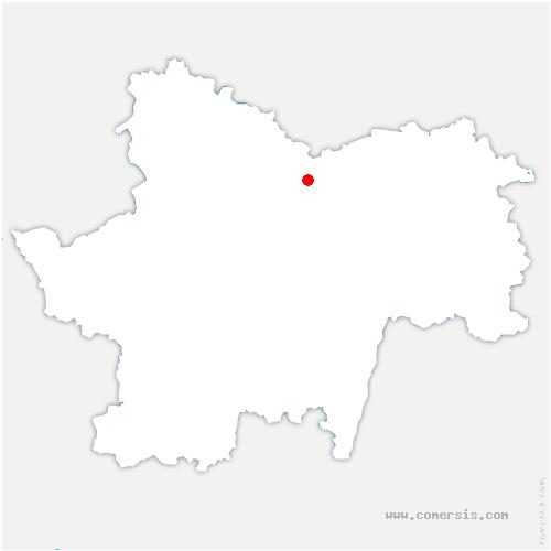 carte de localisation de Charrecey