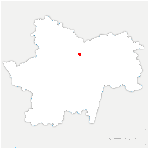carte de localisation de Châtel-Moron