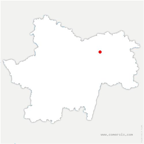 carte de localisation de Châtenoy-en-Bresse