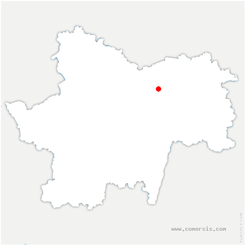 carte de localisation de Châtenoy-le-Royal