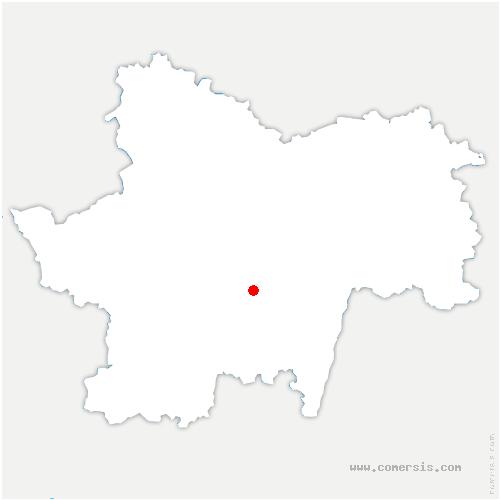 carte de localisation de Chérizet