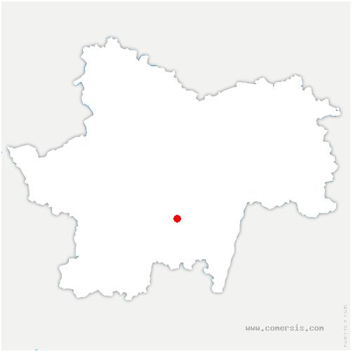carte de localisation de Chiddes