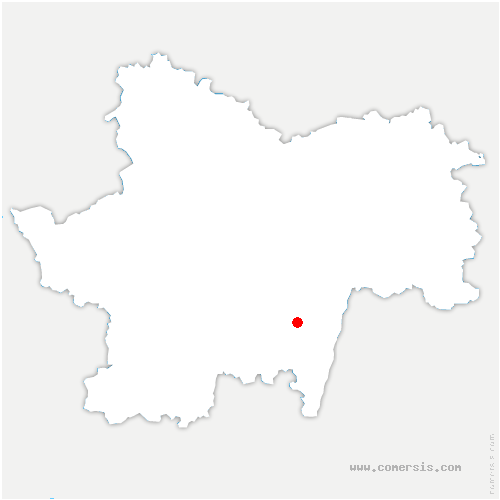 carte de localisation de Cluny